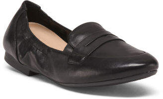 Wide Comfort Leather Loafers
