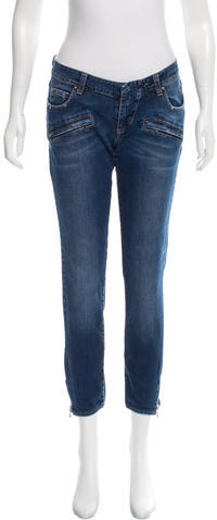 BalmainPierre Balmain Distressed Moto Jeans