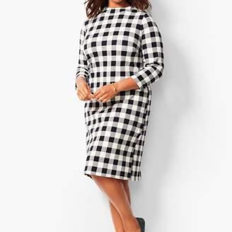 Talbots Mockneck Cotton Knit Shift Dress