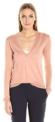 Theory Women's Yulia V Fine Cashsilk Sweater