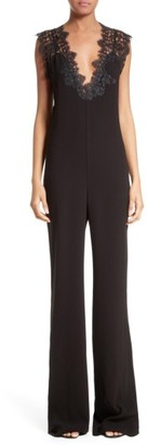 Women's Theory Zuzanna Wide Leg Crepe Jumpsuit $535 thestylecure.com