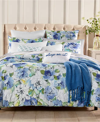 Charter Club Damask Designs Sketch Floral 300 Thread Count 3-Pc. Full/Queen Comforter Set