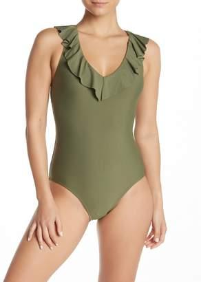 Free Press Dani Ruffle One-Piece Swimsuit