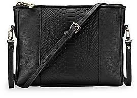 GiGi New York Women's Hailey Embossed Python Convertible Crossbody Bag