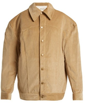 Awake Oversized Cotton Corduroy Jacket - Womens - Camel