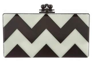 Edie Parker Glow in the Dark Chevron Clutch