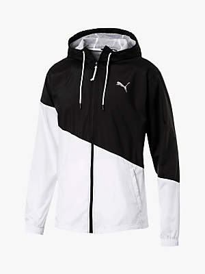 ACE Windbreaker Jacket, Black/White