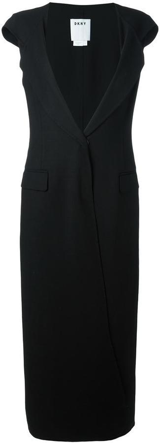 DKNYDKNY sleeveless hooded coat