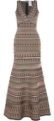 Herve Leger Regina Jacquard-Knit Bandage Gown