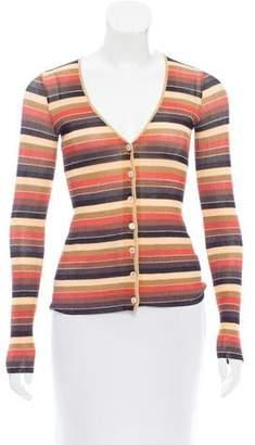 Dolce & Gabbana Striped V-neck Cardigan