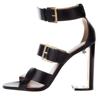Calvin Klein Collection Leather Ankle Strap Sandals