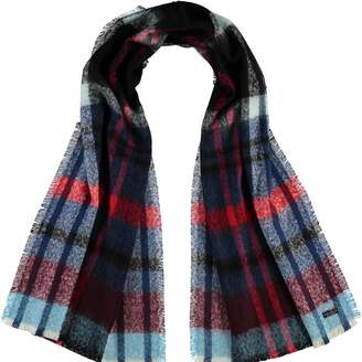 Fraas Us Autumn Check Boucle Woven Scarf