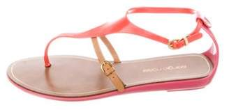 Sergio Rossi Rubber Thong Sandals Orange Rubber Thong Sandals