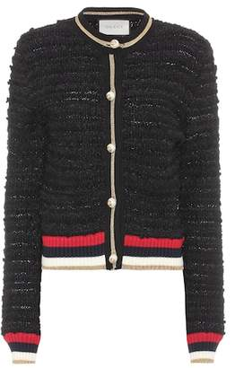Gucci Cotton-blend tweed cardigan