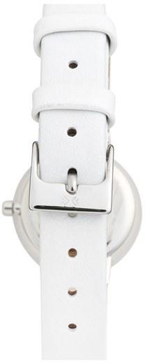 Skagen Faceted Bezel Leather Strap Watch, 25mm