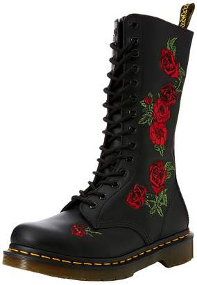 Dr. Martens Womens Vonda 14 Eyelet Leather Boots 8.5 US