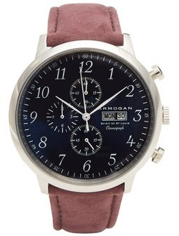 Armogan - Spirit Of St. Louis Stainless Steel Watch - Mens - Burgundy