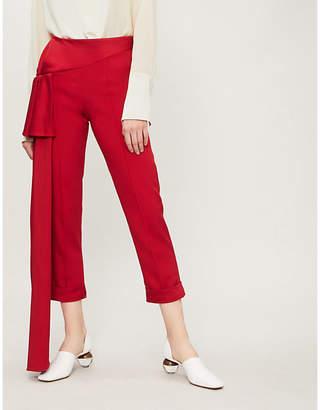 Hellessy Side-drape woven cigarette trousers