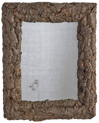 Rejuvenation Large French Wall Mirror w/ Grapevine Root Burl Frame