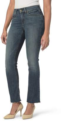 NYDJ Marilyn Raw Hem Stretch Ankle Straight Leg Jeans