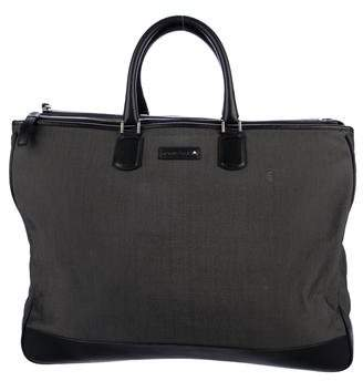 Montblanc Leather-Trimmed Canvas Tote