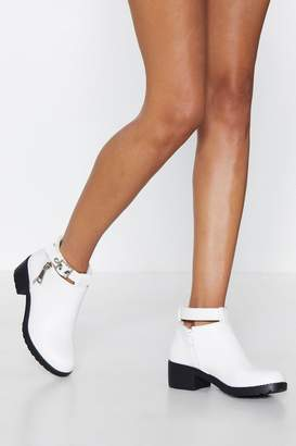 Nasty Gal Good For the Sole Faux Leather Boot