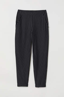H&M Ankle-length Pull-on Pants - Black
