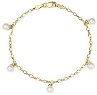 Bloomingdale's Cultured Freshwater Pearl Chain Bracelet in 14K Yellow Gold, 5mm - 100% Exclusive