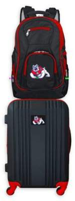 Ncaa Fresno State University Backpack and 21-Inch Hardside Spinner Carry On Luggage Set