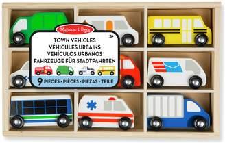 Melissa & Doug Wooden Town Vehicles Set.