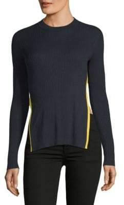 Each X Other Rib Knit Split Long Sleeve Top