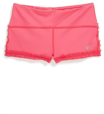 Limeapple 'Dance' Ruffled Mini Shorts (Big Girls)