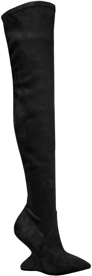 105mm Collodi Stretch Suede Boots