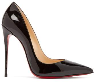 Christian Louboutin So Kate 120 Patent Leather Pumps - Womens - Black