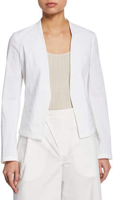 Theory Eco Crunch Wash Open-Front Clean Blazer