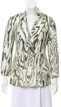 3.1 Phillip Lim Double-Breasted Animal Printed Blazer