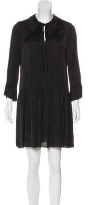 Raquel Allegra Long Sleeve Knee-Length Dress