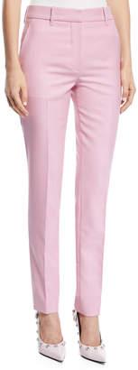 Calvin Klein Straight-Leg Herringbone Check Wool Pants