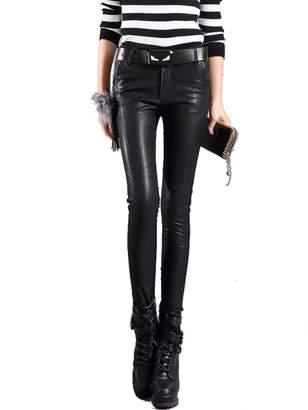 a6ca1f86d1dbf5 MAGUBA pu leather trousers tide winter skinny pants high waist Slim leggings