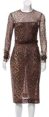 Dolce & Gabbana Animal Print Midi Dress