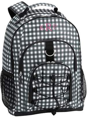 Pottery Barn Teen Gear-Up Black/White Gingham Backpack