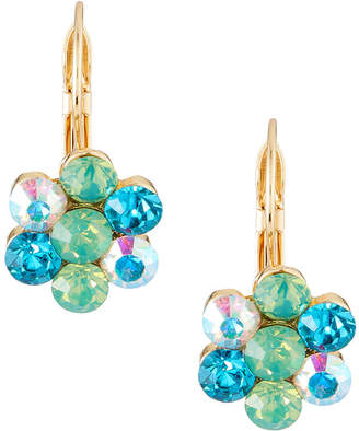 Emily and Ashley Greenbeads By Mint Crystal Flower Drop Earrings