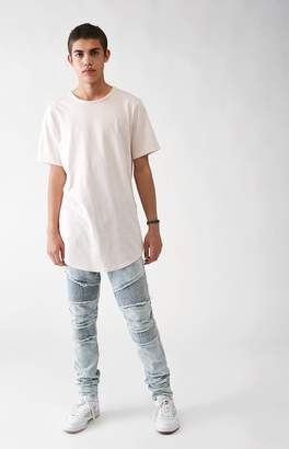 PacSun Stacked Skinny Comfort Stretch Moto Light Jeans