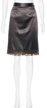 Dolce & Gabbana Satin Pencil Skirt