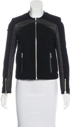 The Kooples Leather & Lace-Trimmed Jacket