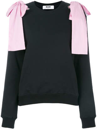 MSGM bow shoulder sweatshirt