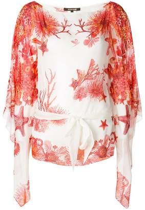 Roberto Cavalli coral reef blouse