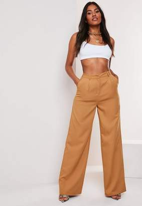 Missguided Camel Co Ord Wide Leg Pants
