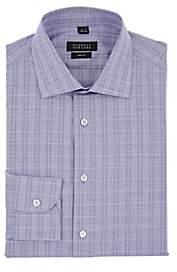 Barneys New York Men's Checked Cotton Poplin Shirt - Navy