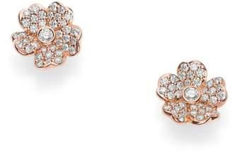 Mikimoto Diamond Flower Stud Earrings